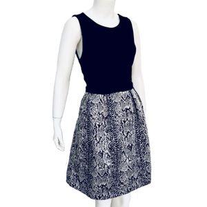 DONNA RICCO | New York Snakeskin Midi Dress Size L